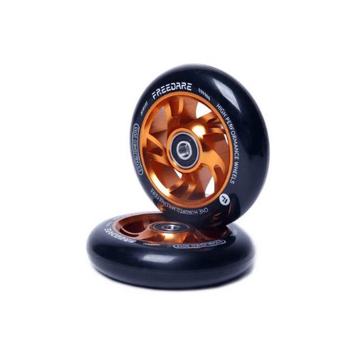 freedare scooter wheels pair 10 spoke copper