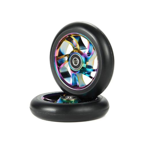 kutrick scooter wheels pair 10 spoke neo chrome