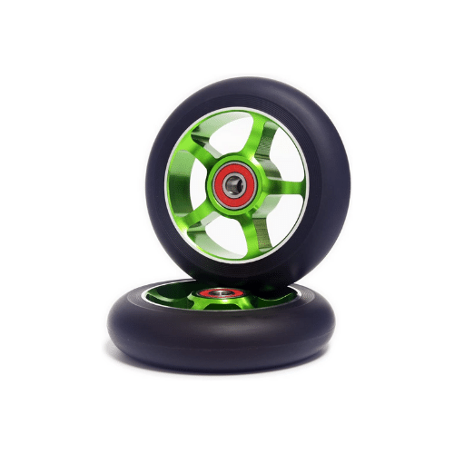 Z-FIRST 2pcs Replacement 100mm Pro Scooter Wheels green