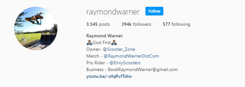 raymond warner most famous scooter riders